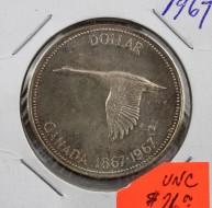 1967 Canada 1 Dollar UNC