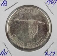 1967 Canada 1 Dollar AU