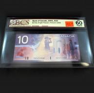 2001 Bank of Canada $10.00, UNC 60 ORIGINAL, BCS Certified FDT4749061